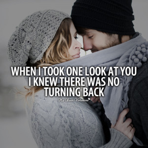 When I took one look at you - Picture Quotes | We Heart It