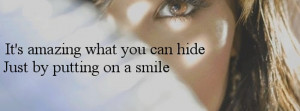Behind a Smile Quotes Tumblr Cover Photos Wallpapers For Girls Images ...