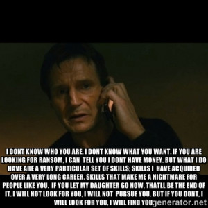 Liam Neeson Taken Quote Liam neeson taken quote