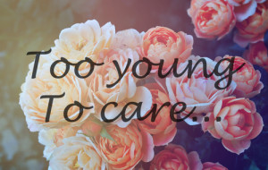 ... this image include: flowers, young, beauty, too young to care and blue