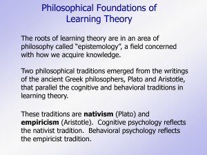 Philosophical Foundations of Learning Theory by ygk49963