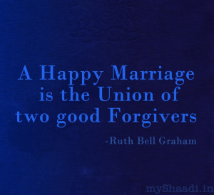... Marriage is the union of two good Forgivers #romantic #quote #weddings