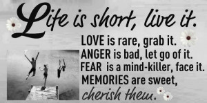 Love Is Race grab it Anger is bad let Go Of it