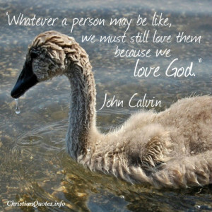 John Calvin Quote – Love God