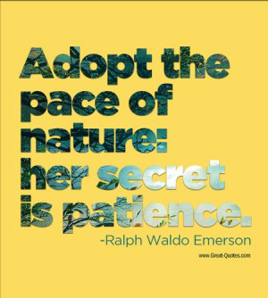 Ralph waldo emerson, quotes, sayings, patience, wise