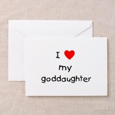 love my goddaughter Greeting Cards (Pk of 10 for