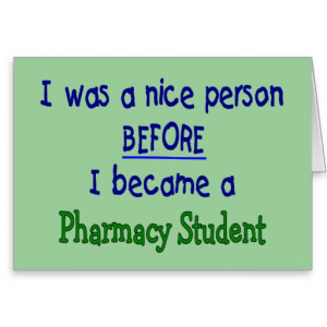 Pharmacy Student Funny T-Shirts & Gifts Greeting Card