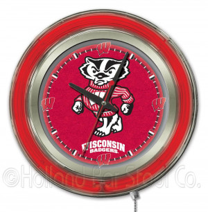 The University of Wisconsin Badgers Clock