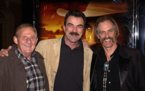 Tom Selleck, Keith Carradine and Simon Wincer at event of Monte Walsh ...