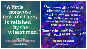 Quotes from Roald Dahl's Charlie and the Great Glass Elevator and The ...