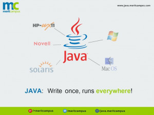 Java: Write Once, Runs Everywhere!