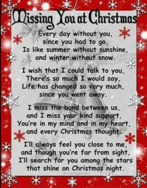 Missing you at Christmas grandma