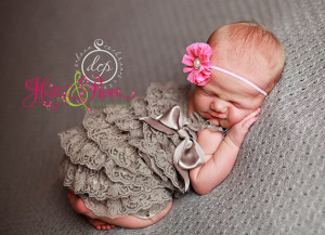 Newborn Coming Home Outfit.Grey Baby Lace Romper Headband SET,Romper ...