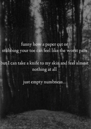 But cutting Yourself W A