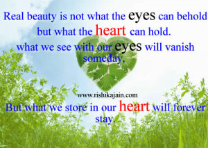 real beauty,,heart,Beautiful Quotes – Inspirational Quotes, Pictures ...