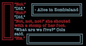 Alice in Zombieland Quote :PBook Quotes, Alice In Zombieland Quotes