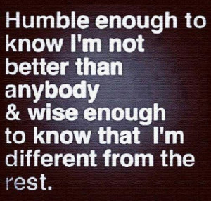 Being humble quote
