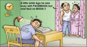 Facebook and Study Funny Cartoon Jokes, Cartoon Jokes