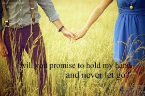 Your hand in mine forever.