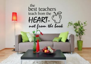 Vinyl Wall Quote Classroom Decor The Best Teachers Teach from the ...