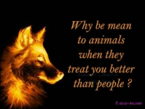 animals treat you better than people