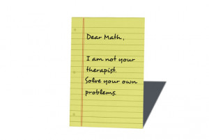 Funny Math quote- geeky funny magnet- 2 inch x 3 inch