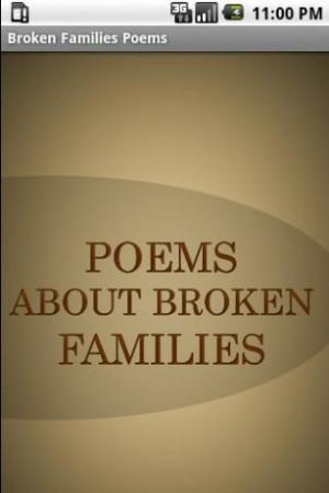 Broken Families Poems