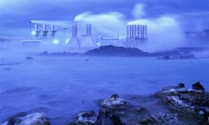 The Svartsengi Geothermal Power Plant by the