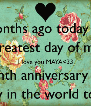 happy anniversary my love for 3 months