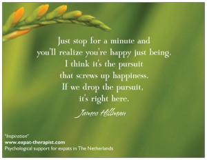 Inspiration - Quotes - Amsterdam: James Hillman, Happiness