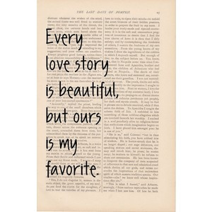 love quotes dictionary art love quote Every Love Story is Beautiful ...