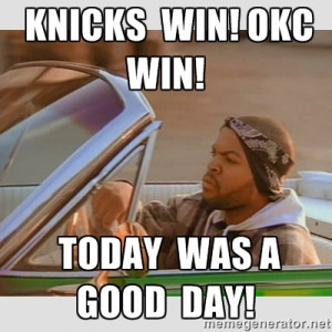 Ice Cube Good Day - Knicks win! OKC WIN! Today was A GOOD DAY!