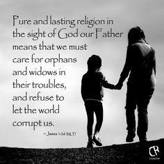 ... 26 (NLT) Bible verse #Adoption #OrphanSunday | CrossRiverMedia.com