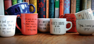 diy: literary quote mugs
