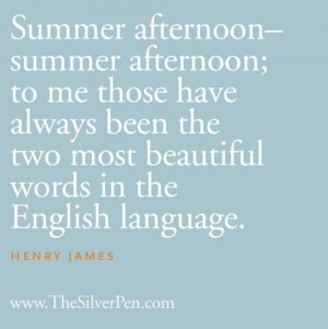 Summer Afternoon by Henry James