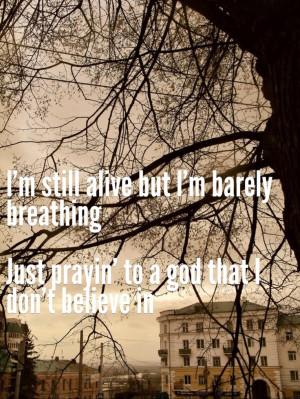 The Script-Breakeven lyrics quote