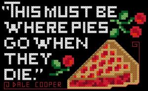 Twin Peaks Cherry Pie Quote Cross Stitch PDF Pattern by MsChristy, $6 ...