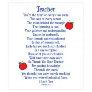 CafePress > Wall Art > Posters > Teacher Thank You Wall Art Poster