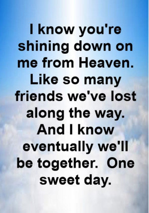 Mariah Carey - One Sweet Day - song lyrics, song quotes, songs, music ...