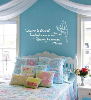 Disney Tinkerbell Quote: Laughter is Timeless Wall Words Sticker Decal ...