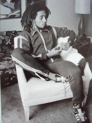 Bob Marley before the music press interviews at the Sunset Marquis in ...