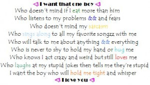 want a boy who quotes