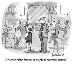 Cell phone addicts
