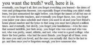 quotes about school memories