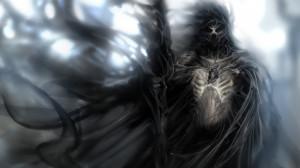 dark horror fantasy warrior demon weapons gothic skull mask art ...