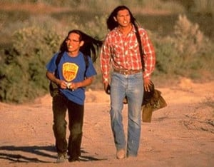Relationship father and son in the movie smoke signals