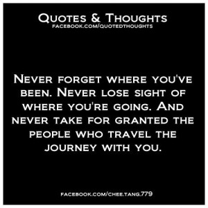 Losing Sight Quotes   quotes / Never forget where you've been. Never ...