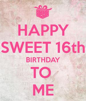 Happy Birthday Sweet Sixteen