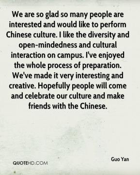 Guo Yan - We are so glad so many people are interested and would like ...