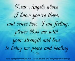 selection of Angel Quotes, Blessings & Poemswith beautiful images ...